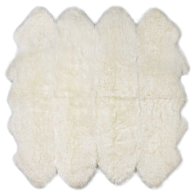 Buy Australian Sheepskin Merino Floor Rug Ivory Throw Octo