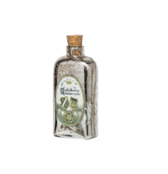 Decorative Mirrored Glass Bottle with Cork