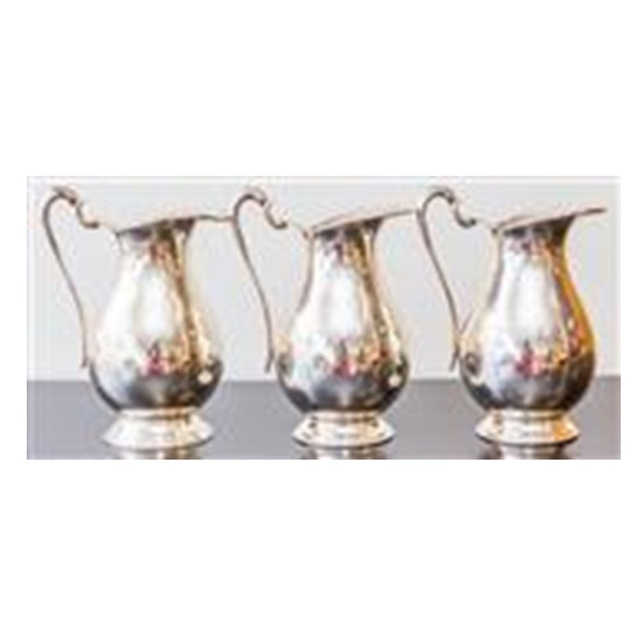 Silver Plate Baluster Shaped Water Jugs 23 CM H ***HIRE ONLY***