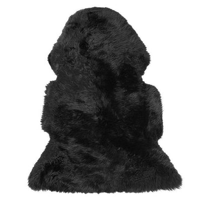 Long Wool Sheepskin - Black - Sourceress The Store - 2