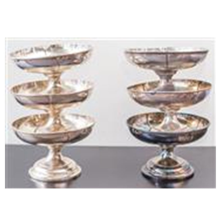 Heavy Gage Silver Plate Clover Leaf Footed Bowls 24 CM D ***HIRE ONLY***