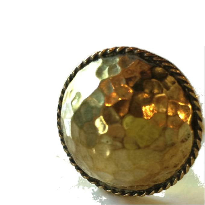 Hammered Brass Dome Ring