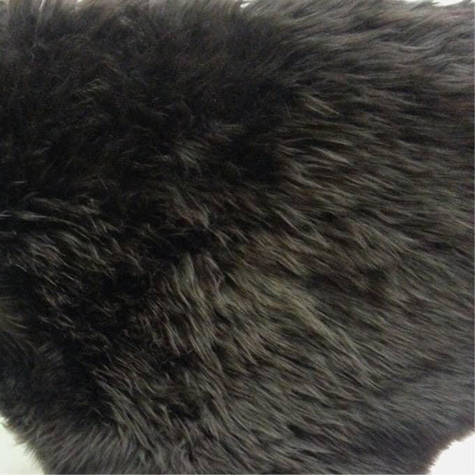 Australian Merino Wool Sheepskin - Mink Brown with Black and Black Tip