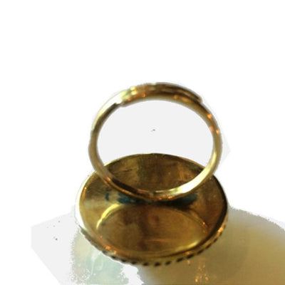 Hammered Brass Dome Ring -  - 4