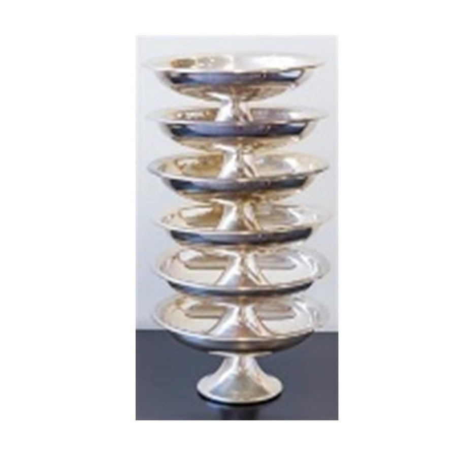 Silver Plate Footed Serving Bowls 24 CM D ***HIRE ONLY***
