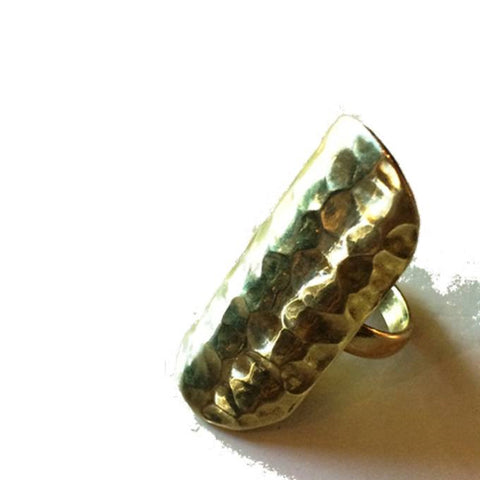 Hammered Brass Shield Ring ***LAST ONE***