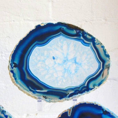 Large Blue Lace Agate Fine Polished Slice - Sourceress The Store - 9