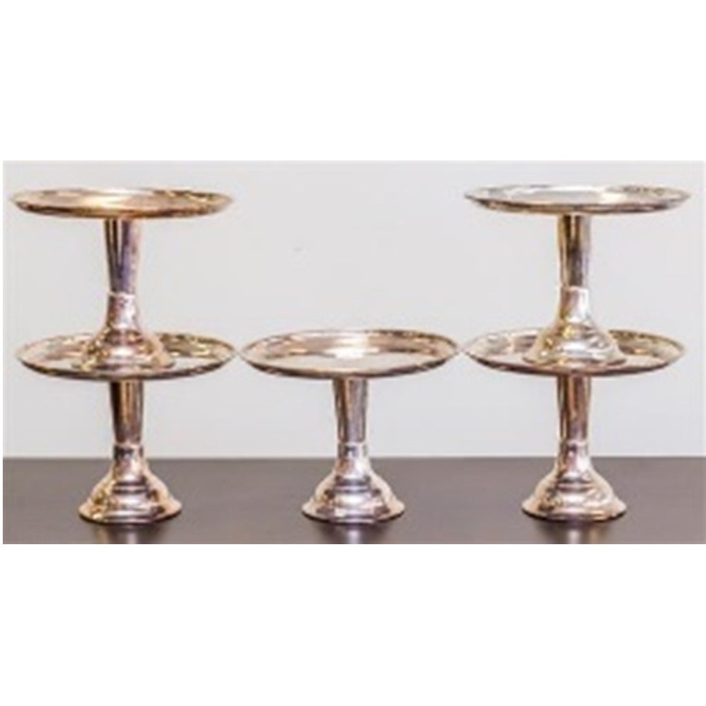 ***HIRE ONLY*** Silver Plate Footed Cake Stands 22 CM H 30 CM D