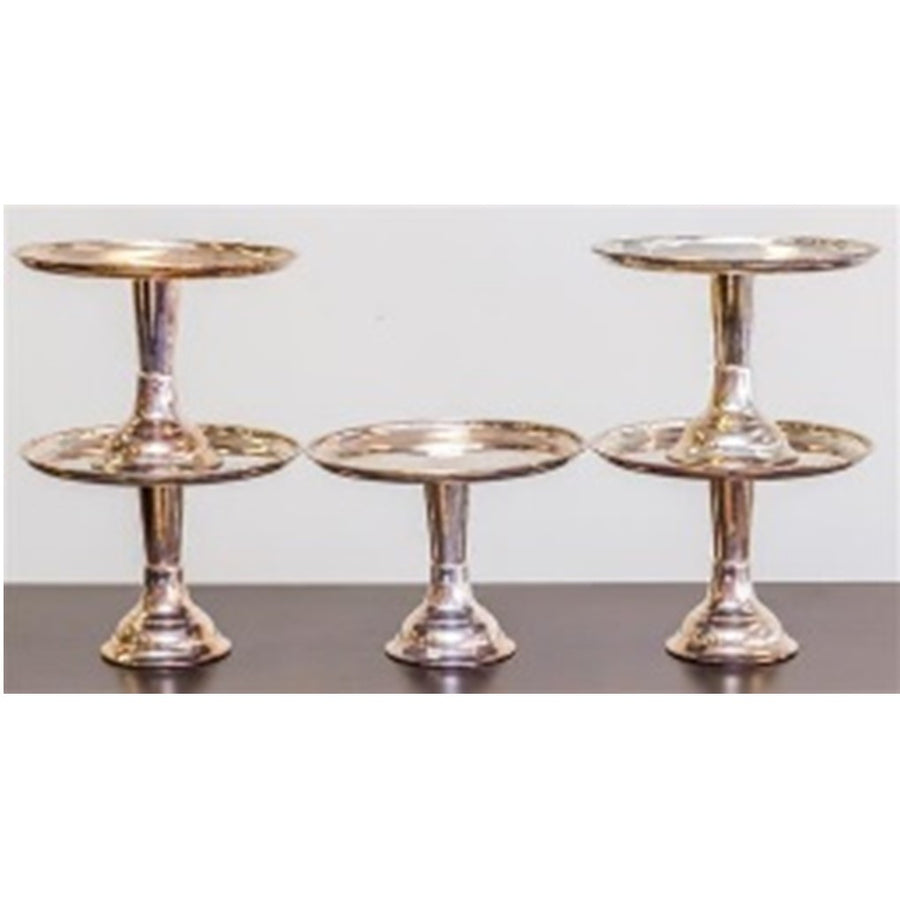 Silver Plate Footed Cake Stands 22 CM H 30 CM D **HIRE ONLY***