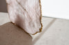 Rose Quartz Slab Platter Gold Trim