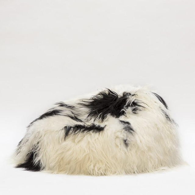 Icelandic Sheepskin Bean Bag - Natural Spotted
