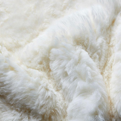 Shorn Icelandic Sheepskin Bean Bag - White