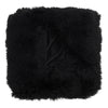 Real Tibetan Fur Mongolian Lambskin Sheepskin Throw Rug Blanket Black