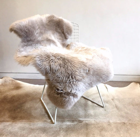 Long Wool Sheepskin - Camel