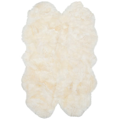 Buy Australian Sheepskin Merino Floor Rug Ivory Throw Quad