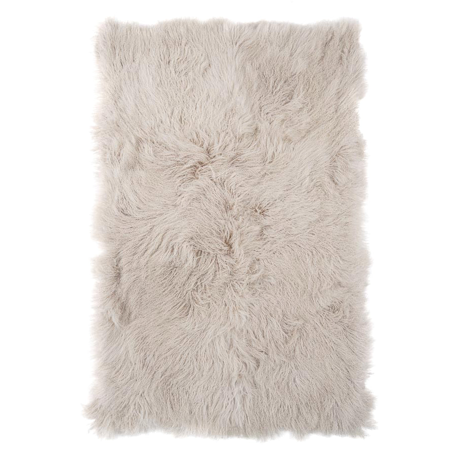 Real Tibetan Fur Mongolian Lambskin Sheepskin Throw Rug Blanket Fawn