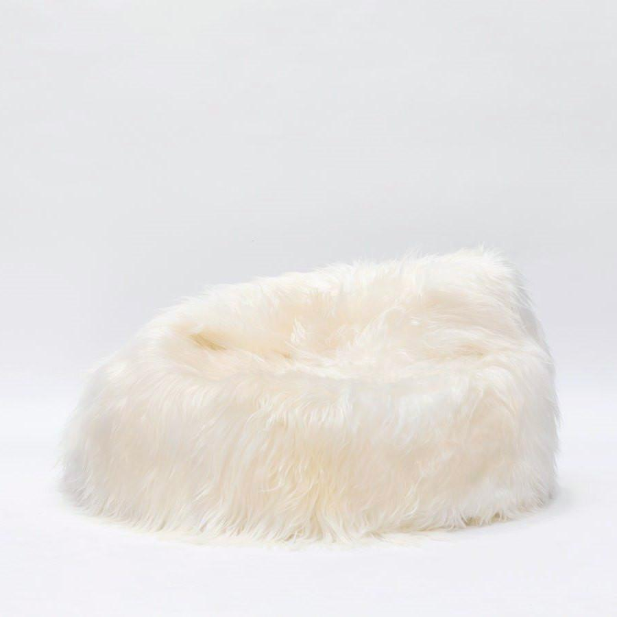 Icelandic Sheepskin Bean Bag white