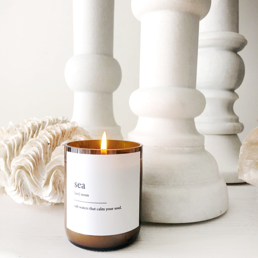 "Australian Made Hand Poured Soy Candle - ""Sea"" - Mango & Thai Lime"
