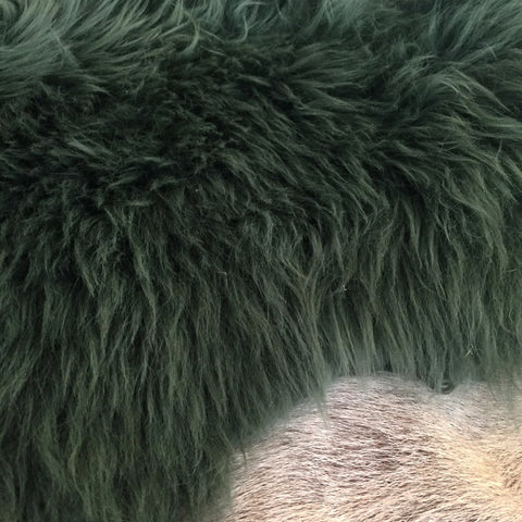 Long Wool Sheepskin - Moss ***NEW COLOUR***