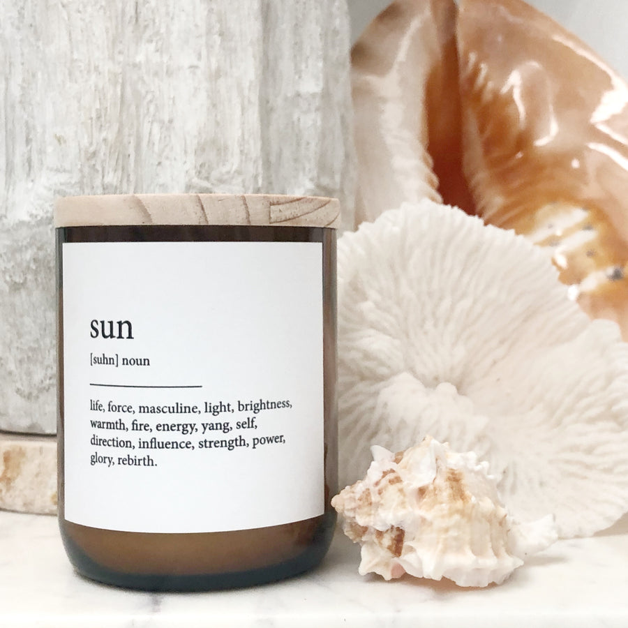 "Australian Made Hand Poured Soy Candle - ""Sun"" - Coconut & Lime"