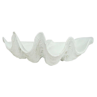 Resin Faux Giant Clamshell - White ***2 SIZES***
