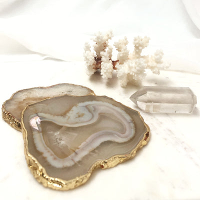 The Entertainer: Coasters, Coral & Crystal Gift Set