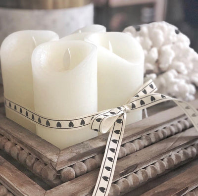 Flameless LED Wax Candles Set 4 with Remote Control