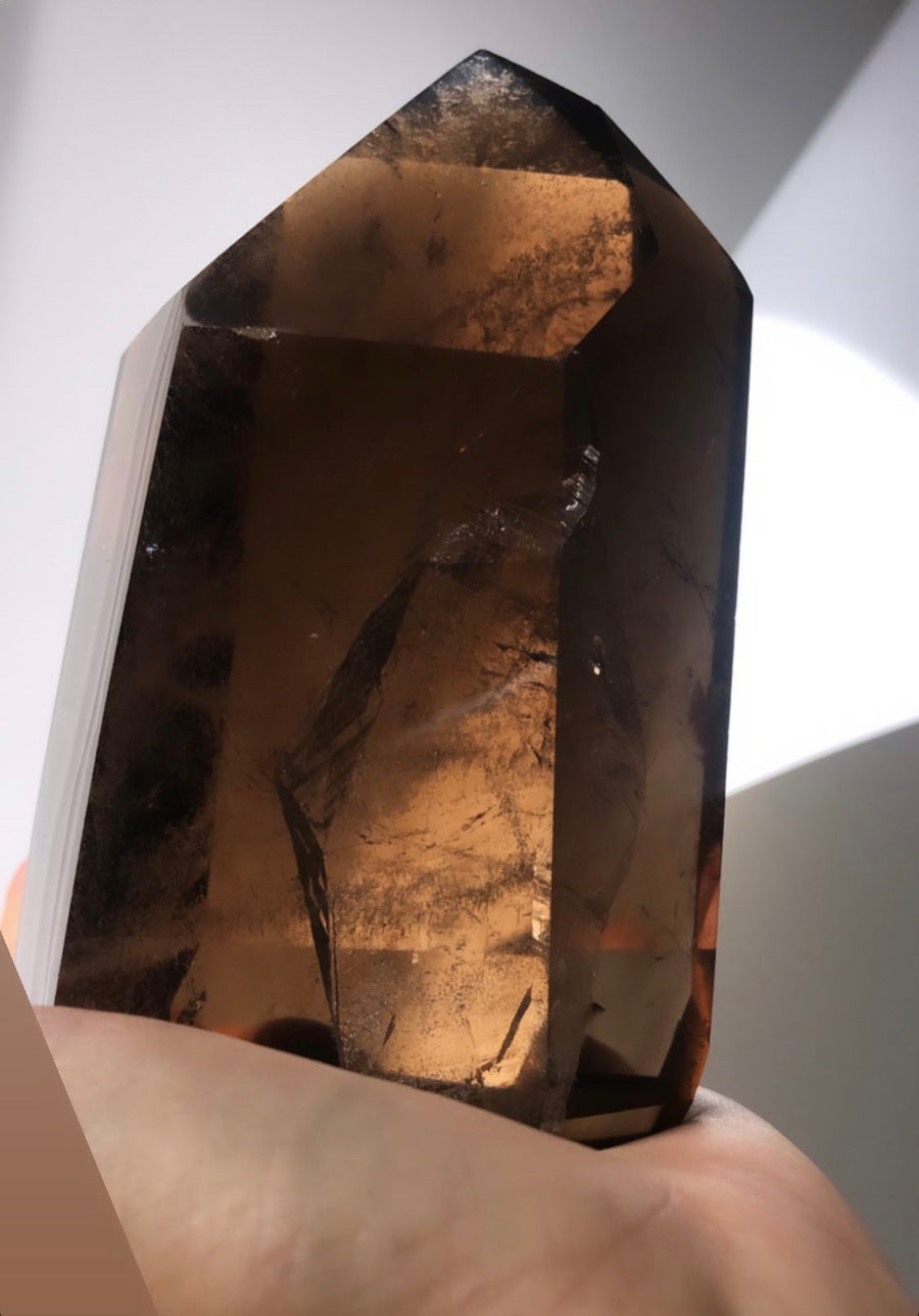 Large Smokey Quartz Point