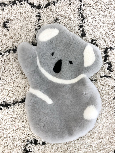 Koala Sheepskin Rug Kids Pouch Decor