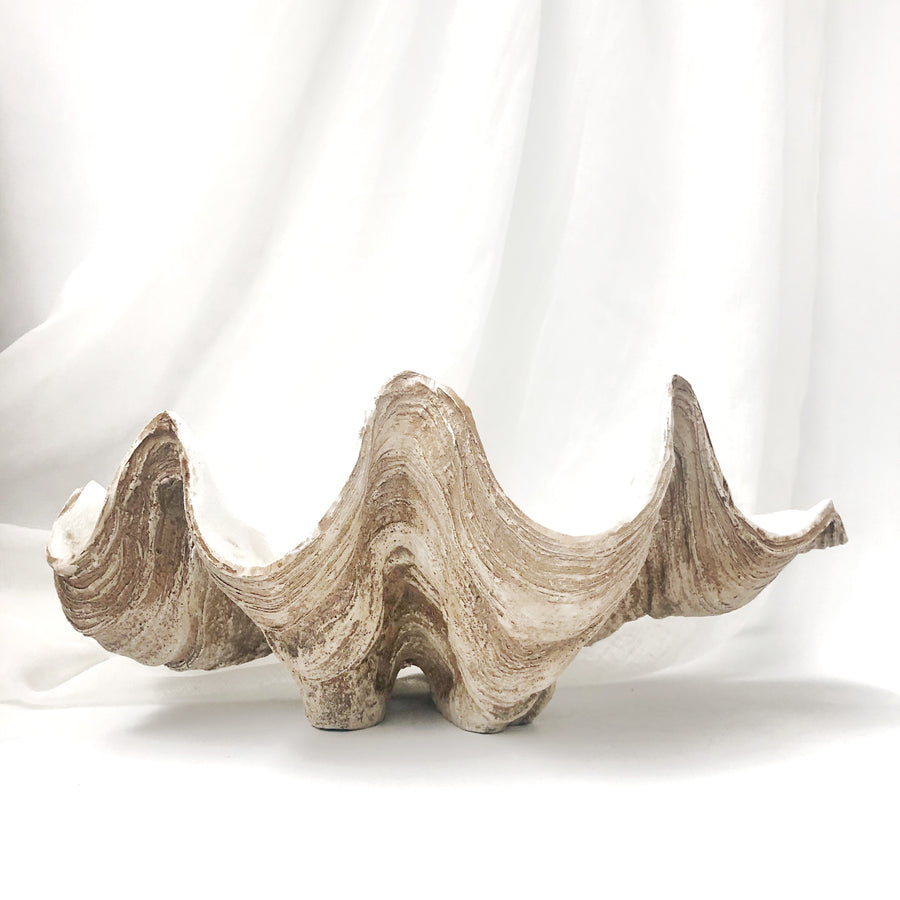 Resin Faux Giant Clamshell Clam 'Natural' 41 CM
