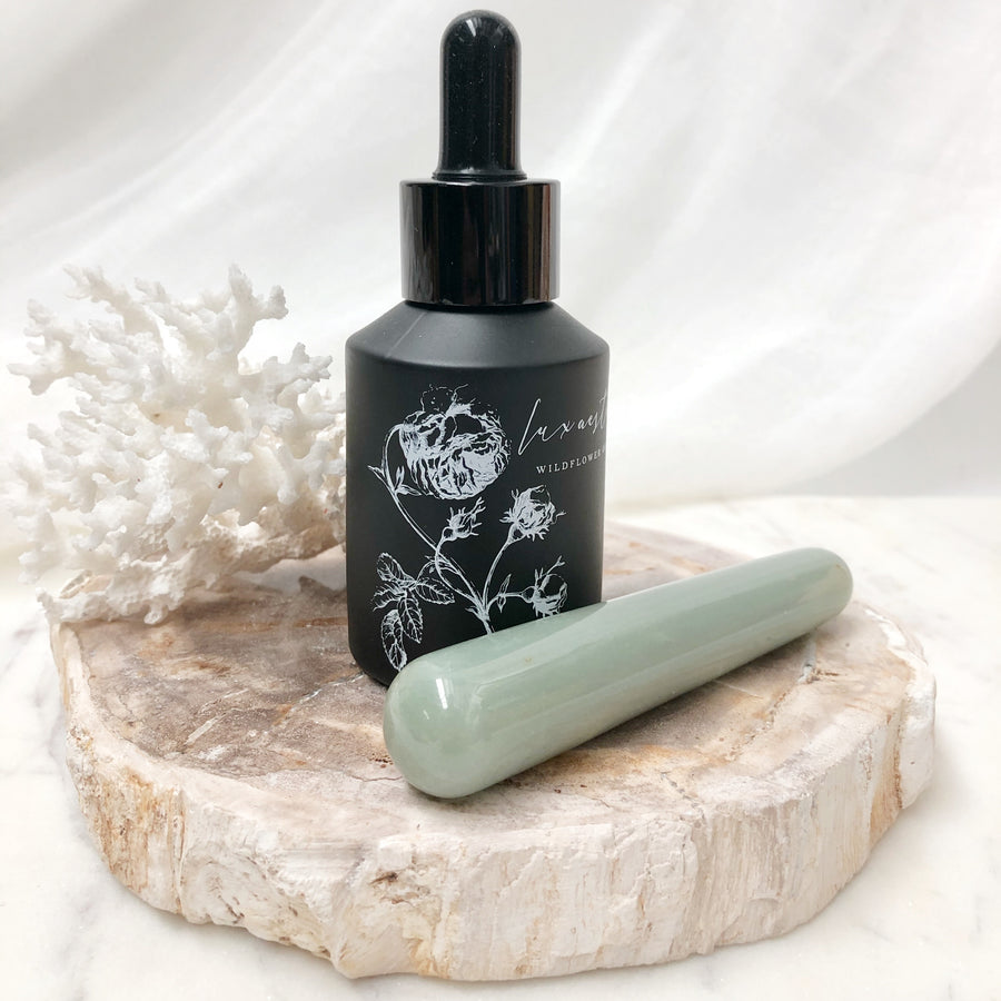 Green Aventurine Face Contouring Crystal Massage Wand