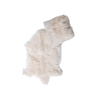 Real Tibetan Fur Mongolian Lambskin Sheepskin & Cushion Gift Set - Ivory