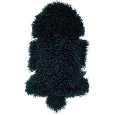 Real Tibetan Fur Mongolian Lambskin Sheepskin Throw Rug Moss Green
