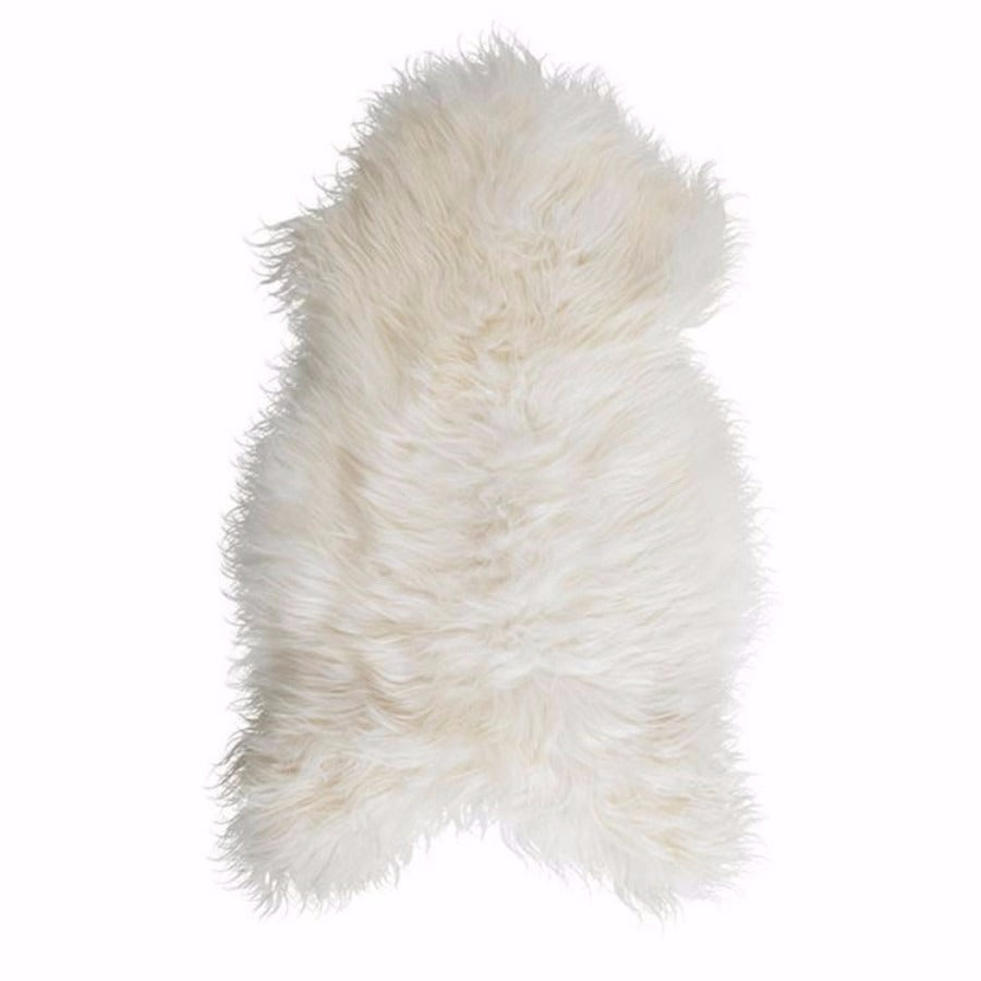 Icelandic Sheepskin Throw - Natural White