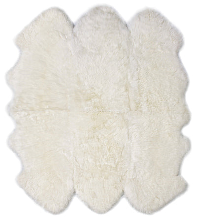 Buy Australian Sheepskin Merino Floor Rug Ivory Throw Sixer
