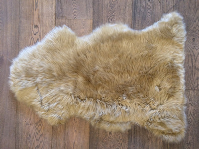 Long Wool Sheepskin - Amber - Sourceress The Store - 2