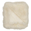 Real Tibetan Fur Mongolian Lambskin Sheepskin Throw Rug Blanket Ivory