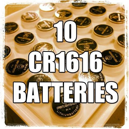 10 CR1616 Batteries