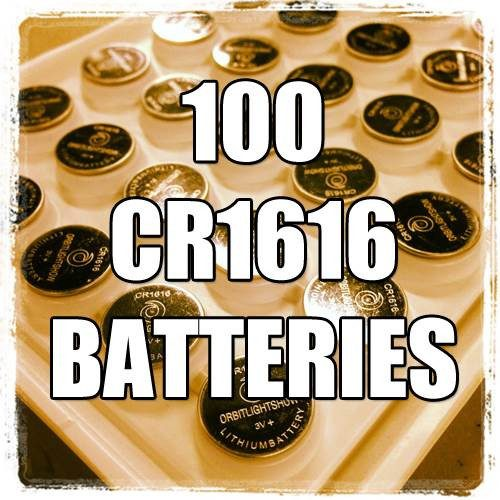 100 CR1616 Batteries