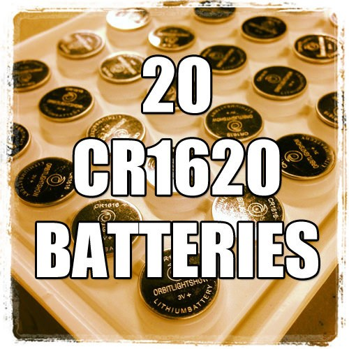 20 CR1620 Batteries
