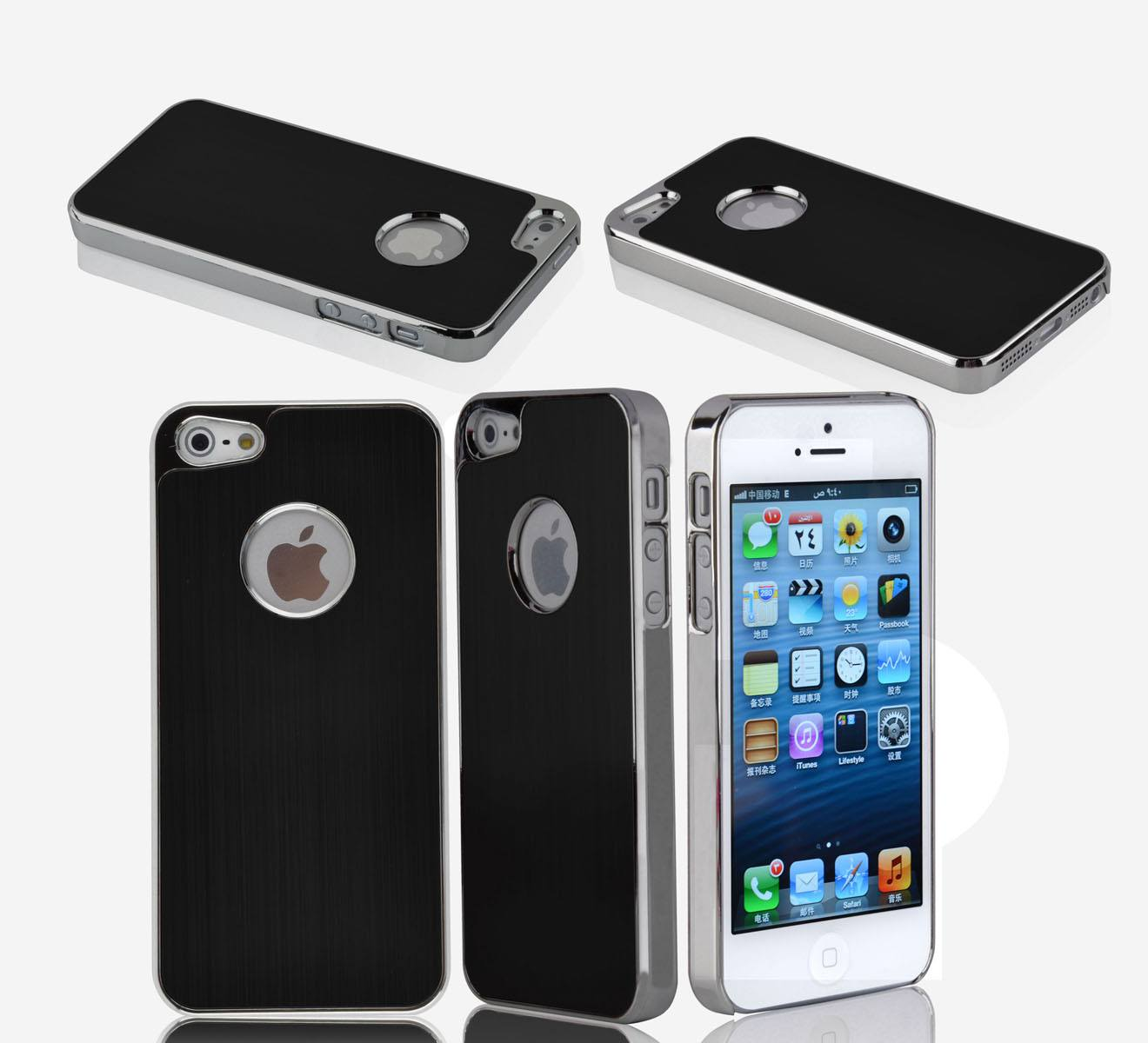 iPhone 5 Premium Brushed Aluminum Case - Black