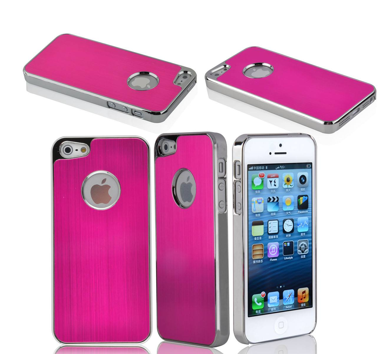 iPhone 5 Premium Brushed Aluminum Case - Hot Pink