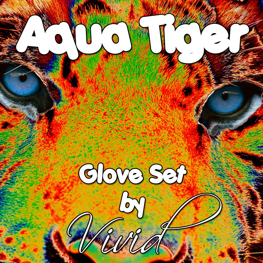 Aqua Tiger Glove Set