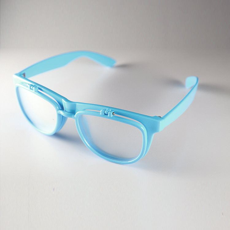 PrismFlipz Diffraction Rave Nerd Glasses - Blue