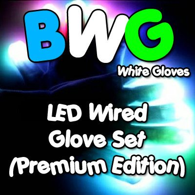 BWG Premium LED Wired Glove Set (White Gloves)