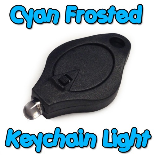 Cyan Frosted Keychain Light