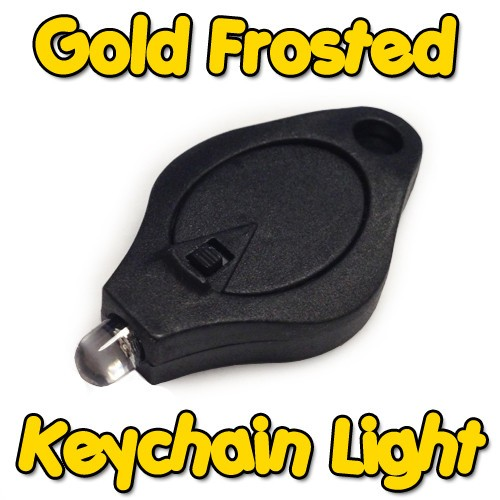 Gold Frosted Keychain Light