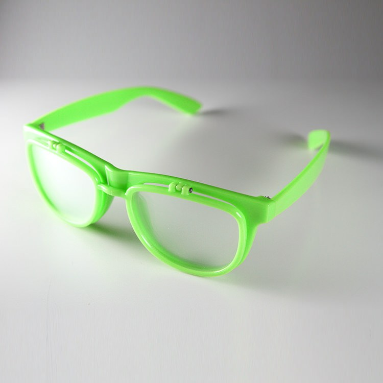 PrismFlipz Diffraction Rave Nerd Glasses - Neon Green