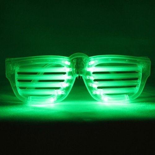 Green LED Rock Star Shutter Sunglasses