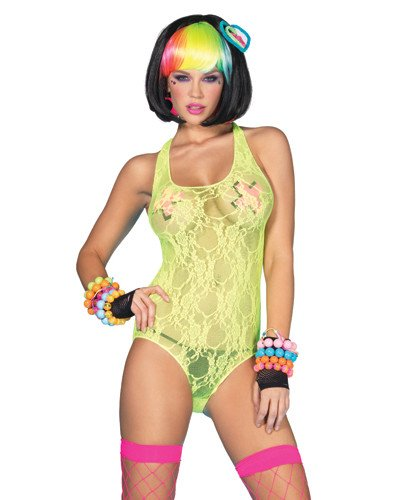 Neon Yellow Lace Body Suit